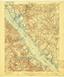 YellowMaps Williamsburg VA topo map, 1:62500 Scale, 15 X 15 Minute, Historical, 1906, Updated 1917, 19.9 x 16.4 in