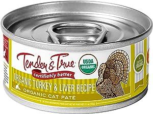 Tender & True Organic Turkey & Liver Recipe Canned Cat Food, 5.5 oz, Case of 24