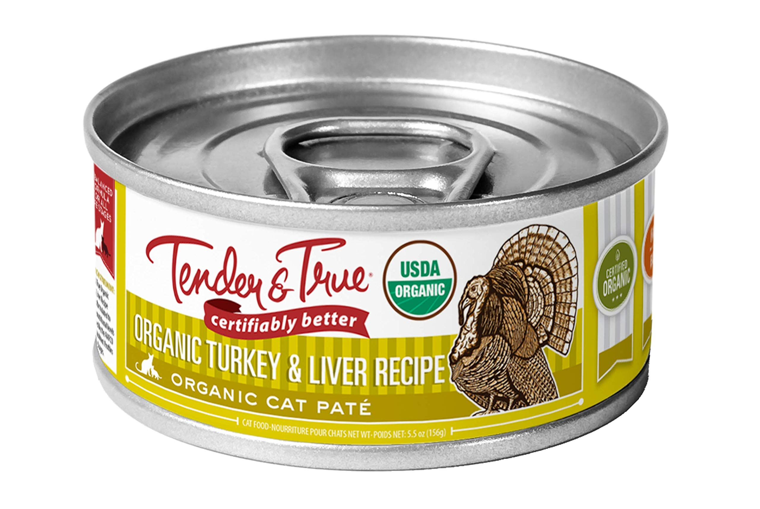 Tender & True Organic Turkey & Liver Recipe Canned Cat Food, 5.5 oz, Case of 24 by Tender & True Pet Nutrition