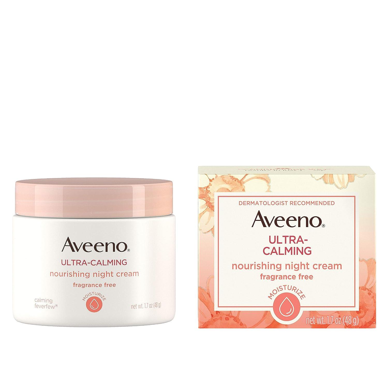 Aveeno Ultra-Calming Nourishing Night Cream, Fragrance Free, 1.7 Ounce