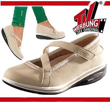 ac38a4c359bc89 WALK MAXX Fitness Ballerina Gr. 38 Sandale Sommerschuhe Damen Schuhe beige