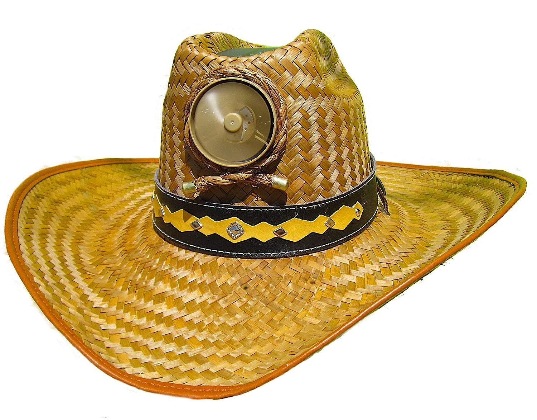 f783f507acb Amazon.com  Cooling Sun Straw Solar Men s Palm Leaf Cowboy Hat w. Band  Large  Sports   Outdoors