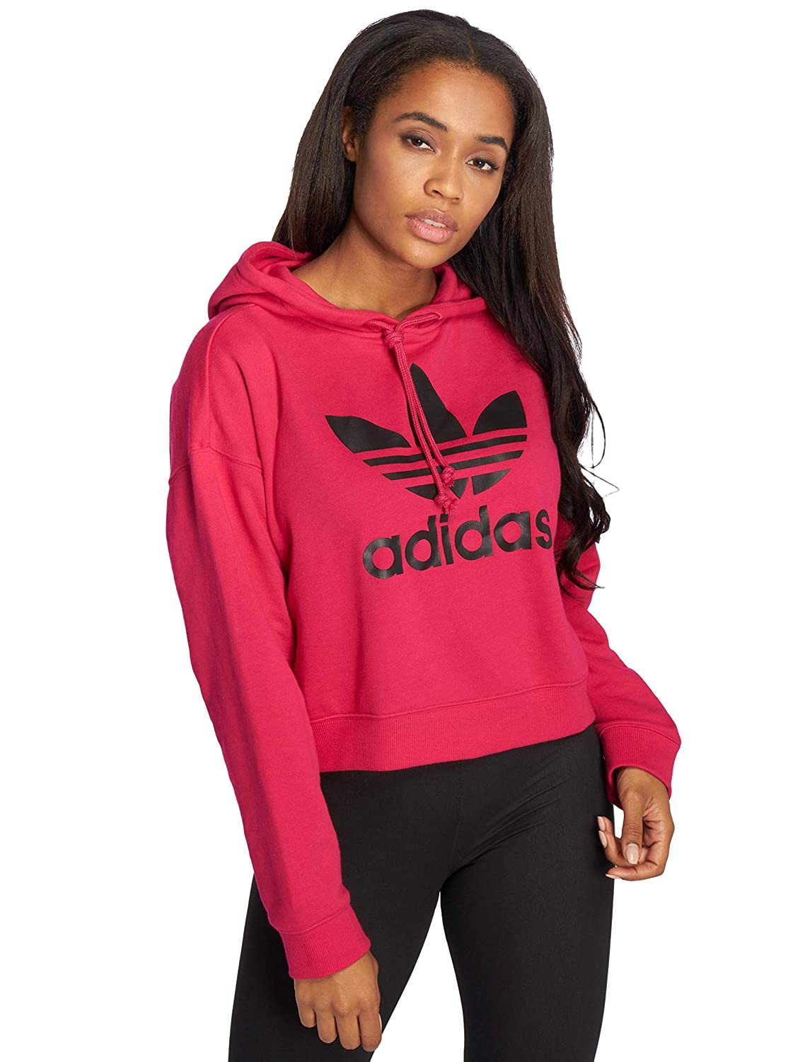 adidas Originals Damen Hoodies LF Crop pink 38: