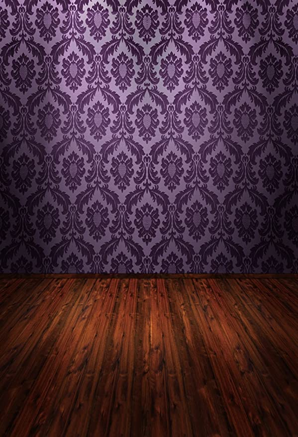 Fivan 5 X 2 4 M Violett Damast Wall Print Baby Indoor Kamera