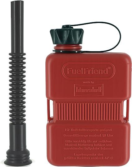 Fuelfriend Plus 1 0 Liter Klein Benzinkanister Mini Reservekanister Flexibles Auslaufrohr Auto