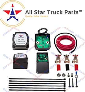 [ALL STAR TRUCK PARTS] 12V 140 Amp Dual Battery Isolator - Voltage Sensitive Relay (VSR) Pro Dual Battery Kit)