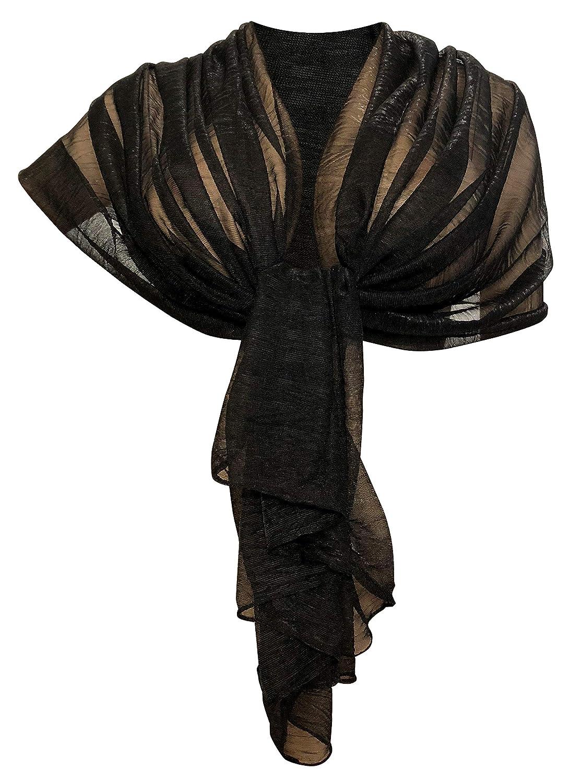 b2cfed4aa LTP Brillante Elegante SCIARPA Metallizzata Scialle Foulard,da Donna  Ragazza Coprispalle Stola Cerimonia 14 Colori (argento): Amazon.it:  Abbigliamento