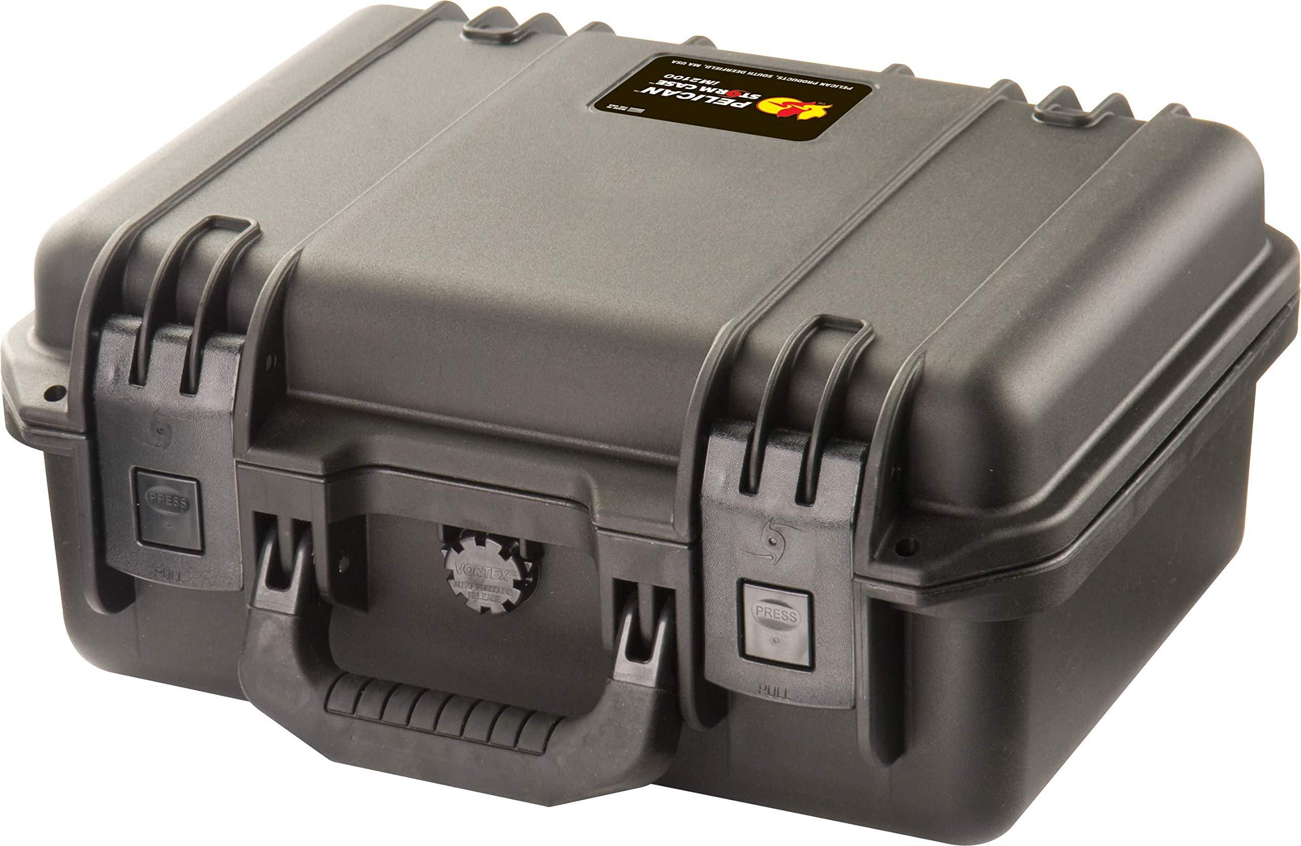 Waterproof Case (Dry Box) | Pelican Storm M2100 Case With Foam (Black) by Pelican