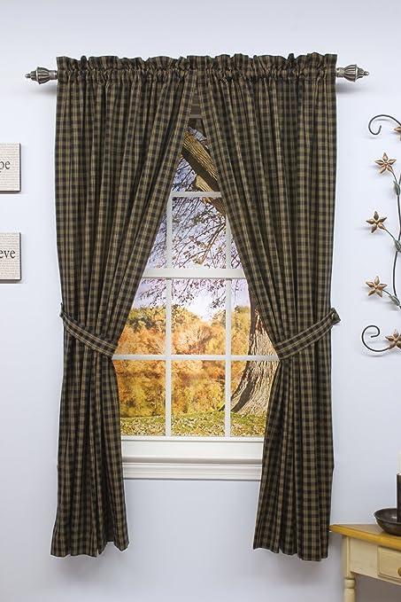 Amazon.com: Sturbridge Country Wine Panel Curtains 72x63: Home U0026 Kitchen