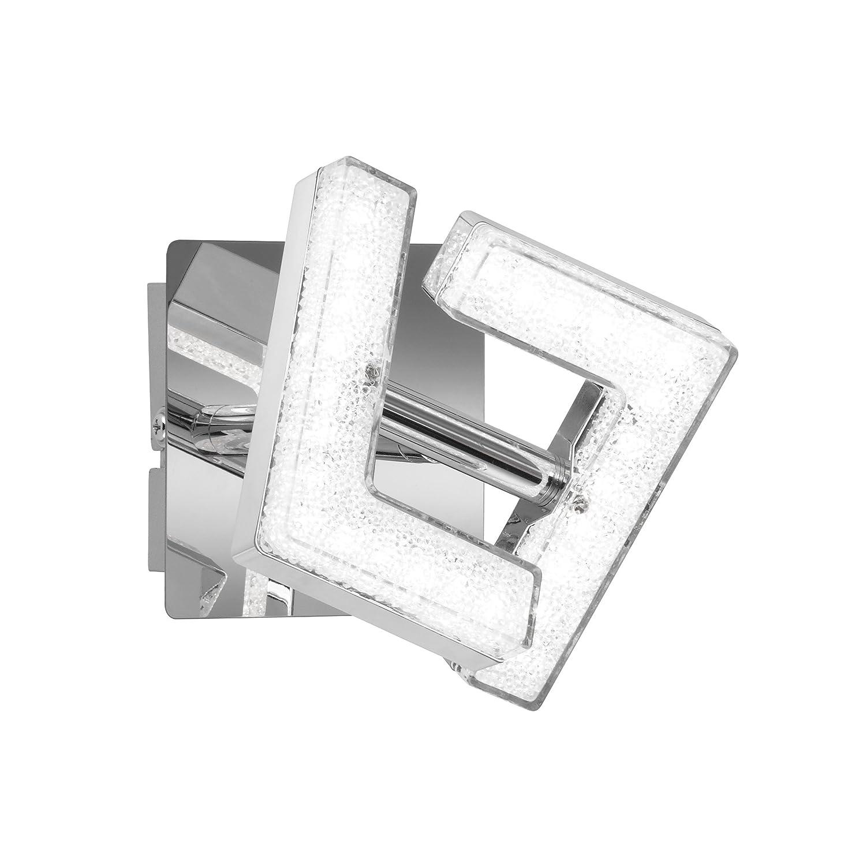 WOFI Spot, Metall, Integriert, 9 W, Chrom, 10 x 10 x 100 cm [Energieklasse A+] 4290.01.01.6000