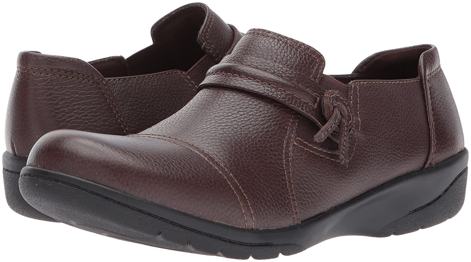 CLARKS Women's Cheyn Madi Loafer B01MRVTY19 7 Leather B(M) US|Dark Brown Tumbled Leather 7 8f86ff