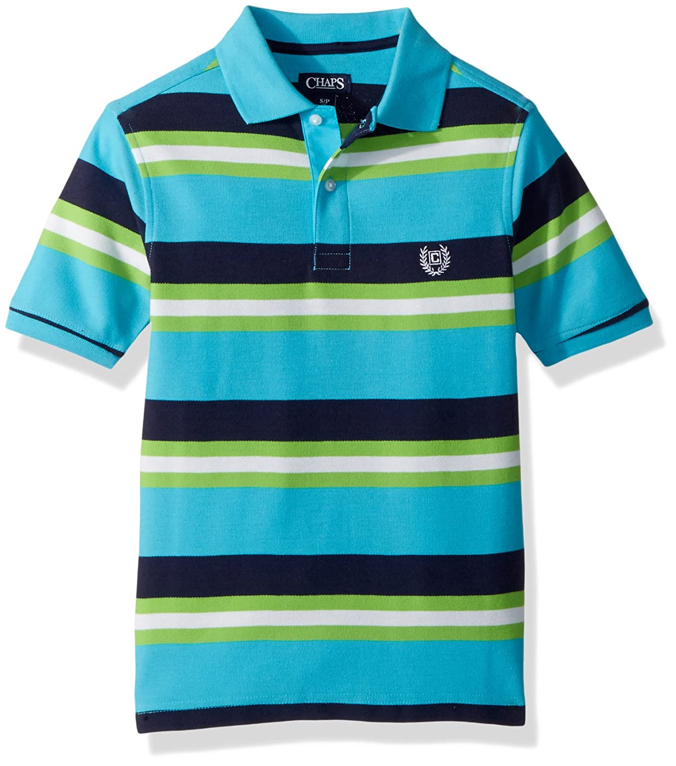 Amazon Chaps Boys Short Sleeve Striped Polo With Stretch Clothing
