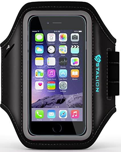 the latest 8c639 b4804 iPhone 6 6S Plus Armband: Stalion Sports Running & Exercise Gym Sportband  (5.5-Inch)(Jet Black) Water Resistant + Sweat Proof + Key Holder +  ID/Credit ...