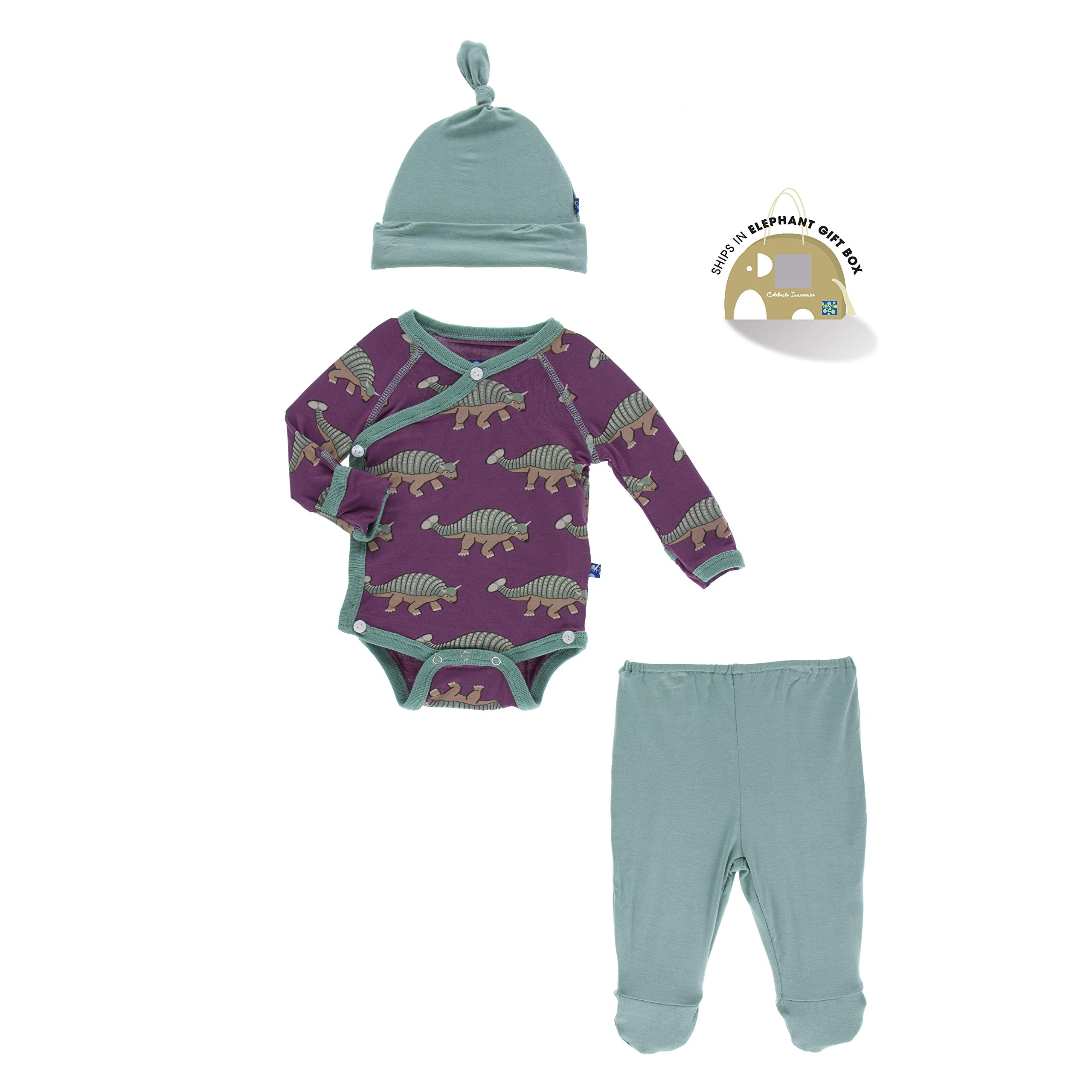 Kickee Pants Kimono Gift Set with Elephant Box Euoplocephalus (NB) by Kickee Pants