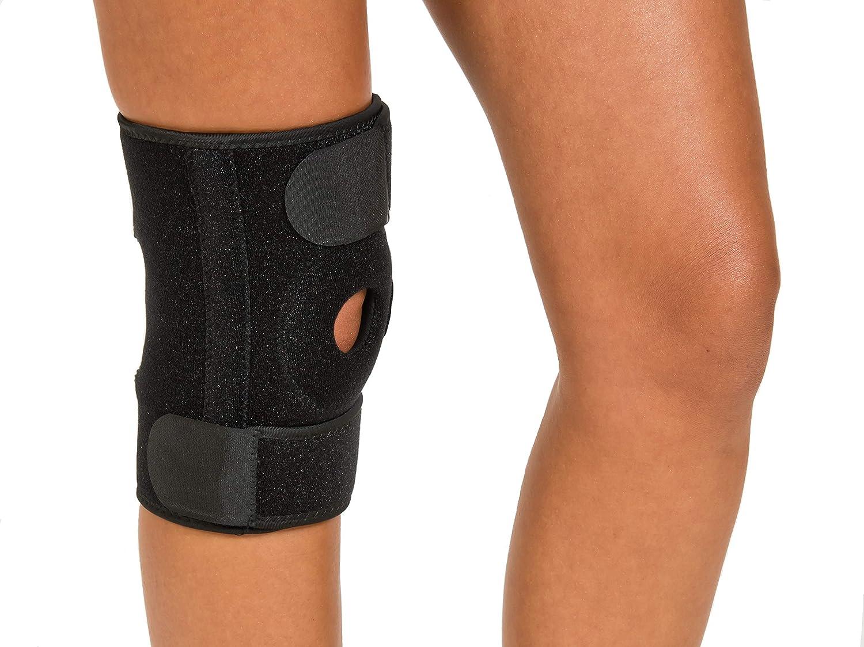 Ortesis de rodilla   Ortesis de rodilla   Vendaje de rodilla   Lesiones y dolor de rodilla   Deporte   Trabajo   unisex   Tamaño universal   negro   rodilla derecha e izquierda