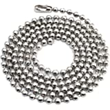 02cb3c2cf 100pcs Nickel Plated Ball Chain Necklace,30 Inches Long 2.4mm Bead Size # 3