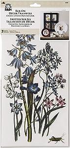 "FolkArt 36106 Rub-On Décor Transfer, Botanical, 3 PC, 6"" x 11.75"""