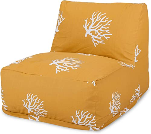 Majestic Home Goods Yellow Coral Bean Bag Chair Lounger