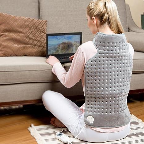 Almohadilla eléctrica para espalda y cuello, alivio del dolor, terapia de calor TP260 con
