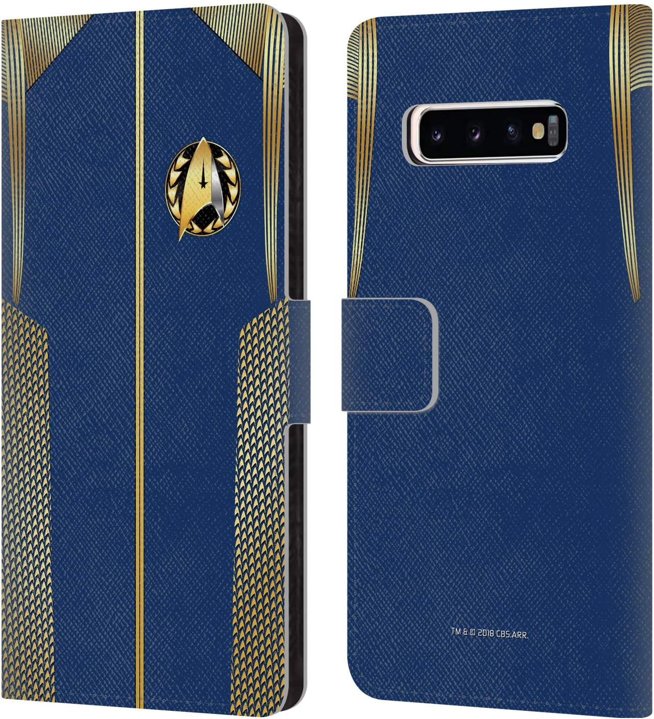 Head Case Designs Officially Licensed by Star Trek Discovery Admiral Uniforms Leather Book Wallet Case Cover Compatible with Samsung Galaxy S10+ / S10 Plus