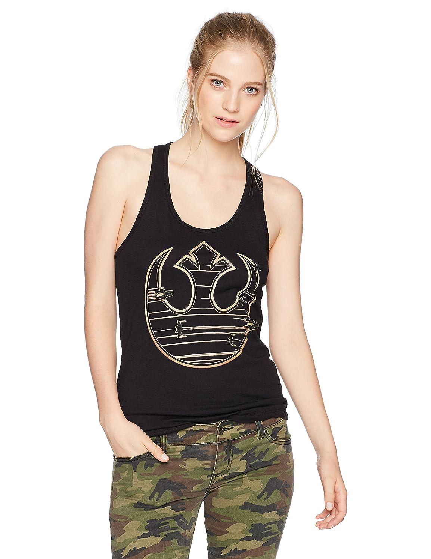 Star Wars Women's Gold Rebel Logo Race Top STRE0003-60077005