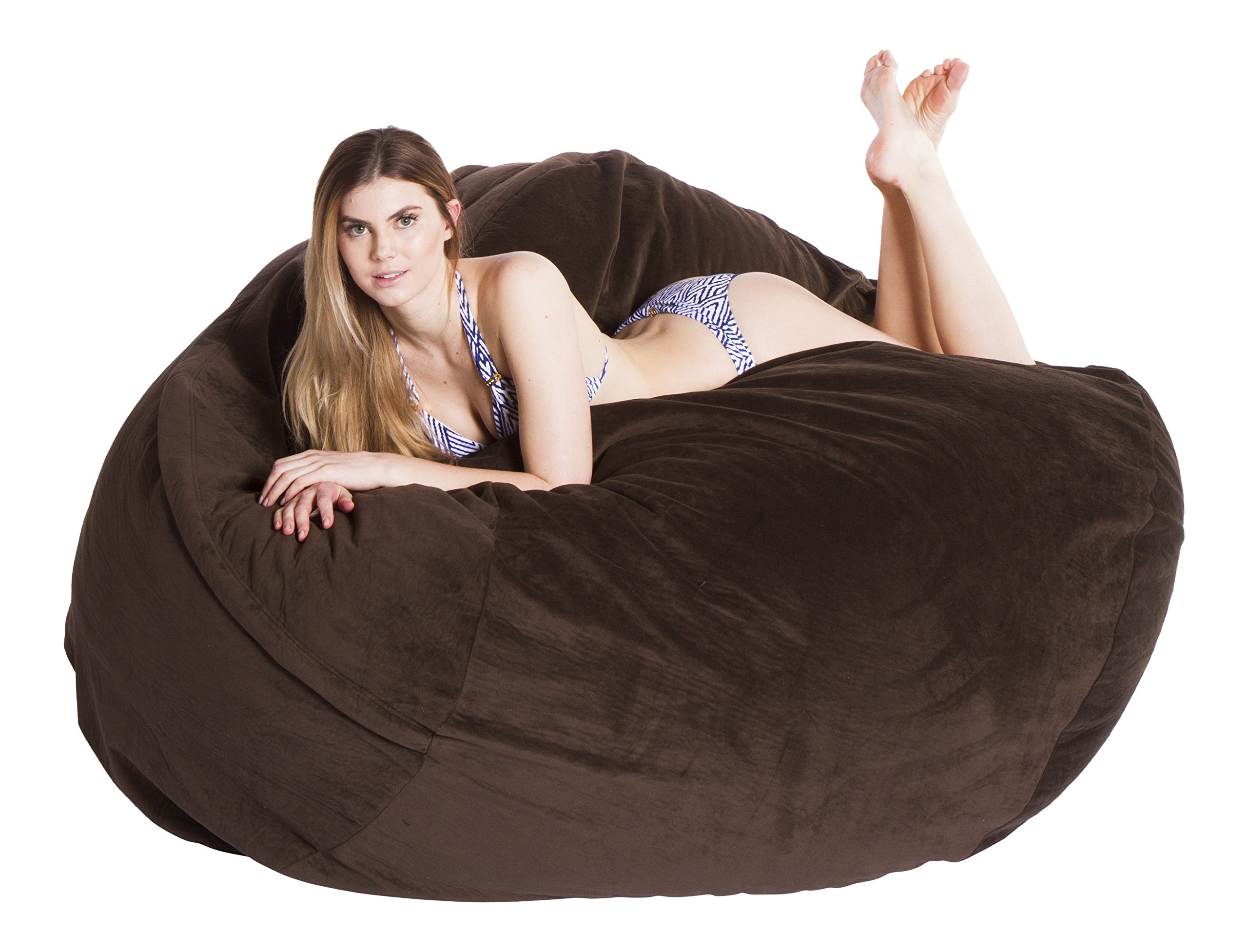 Comfortsacs Bean Bag Chairs Premium Foam-Filled Lounge Sac