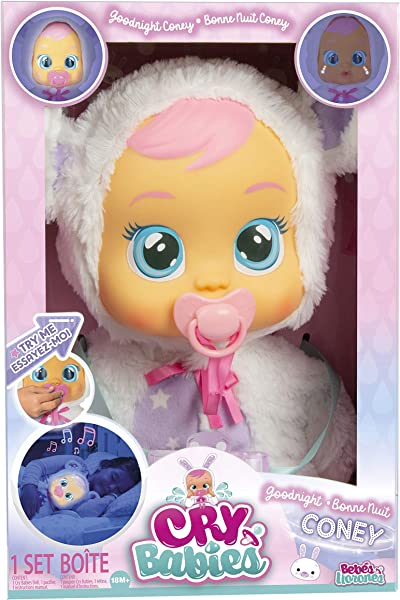 Cry Babies Goodnight Coney baby doll toy for kids in package