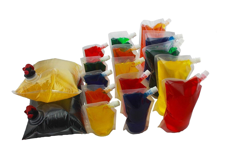 15 x Botellas plásticas para los cócteles y otros líquidos - Envases plásticos reusables para congelar líquidos - Tamaños múltiples - Incluidos 2 envases ...