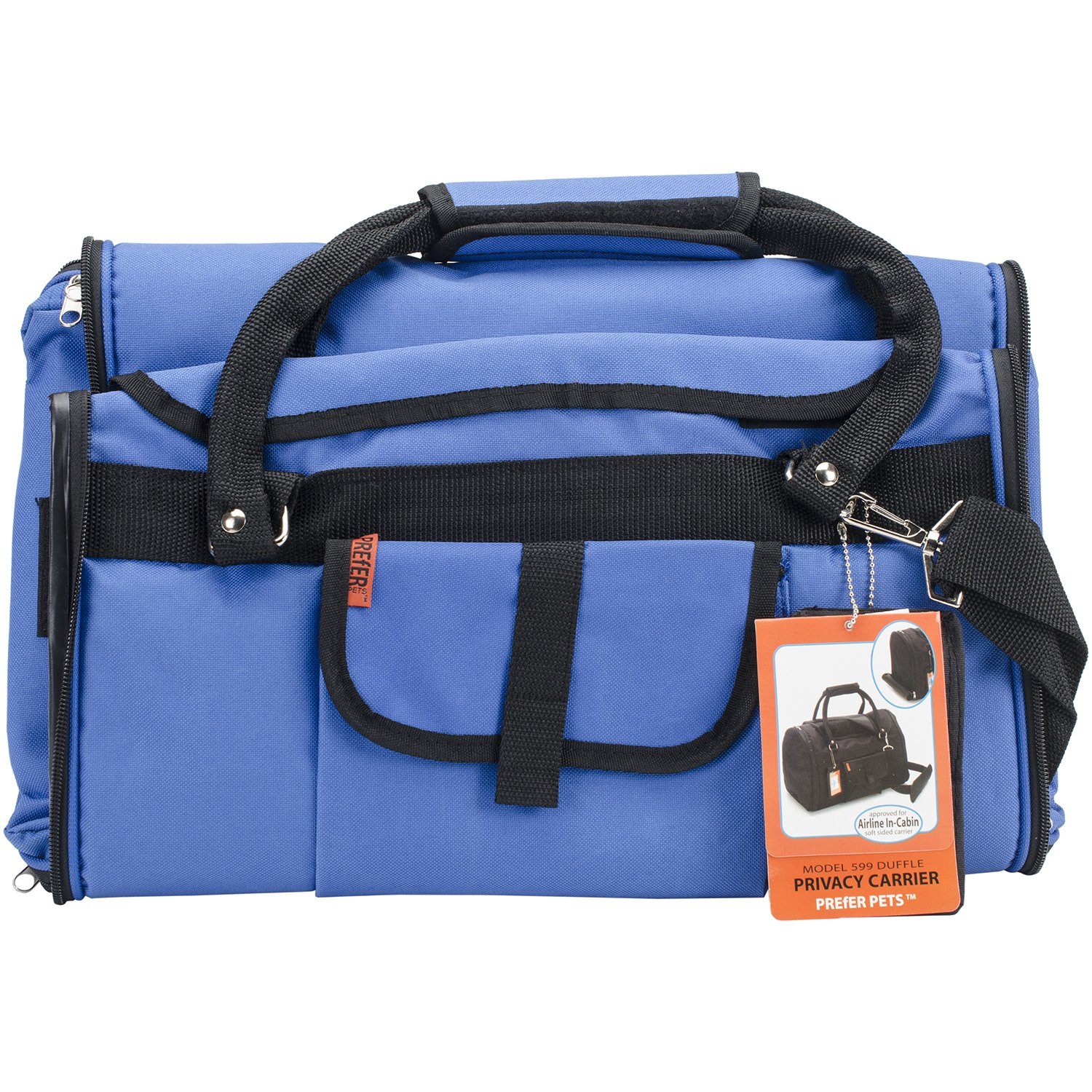 Prefer Pets Travel Gear Privacy Carrier, 17 x 12 x 10'', Blue by Prefer Pets Travel Gear (Image #1)