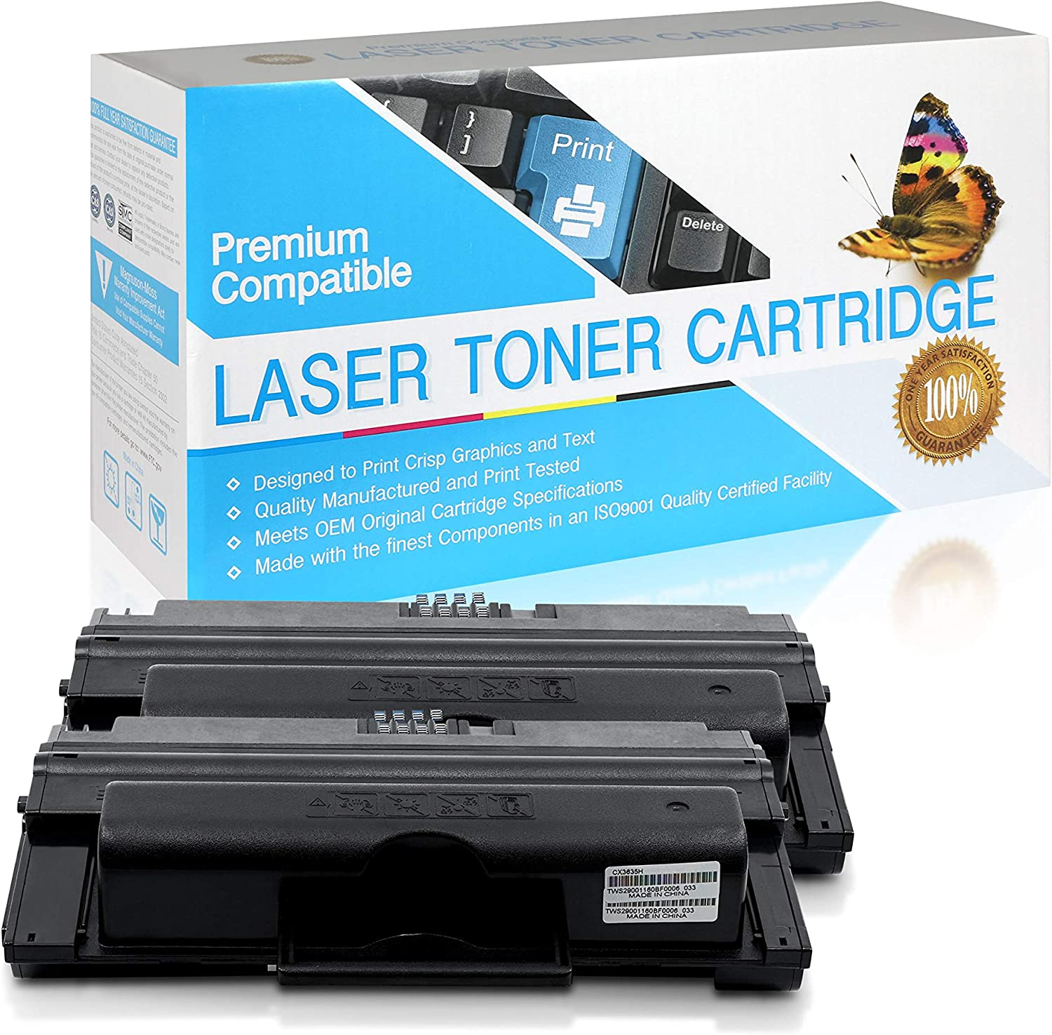 108R795 Black,2 Pack 108R00793 SuppliesOutlet Compatible Toner Cartridge Replacement for Xerox 3635 108R00795 108R793