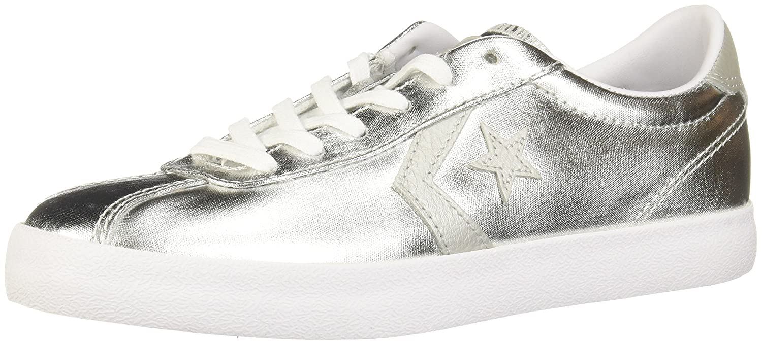 Converse Womens Breakpoint Ox Fashion Sneaker Shoe B01HQP4EJY 5 B(M) US|Pure Silver/White/White