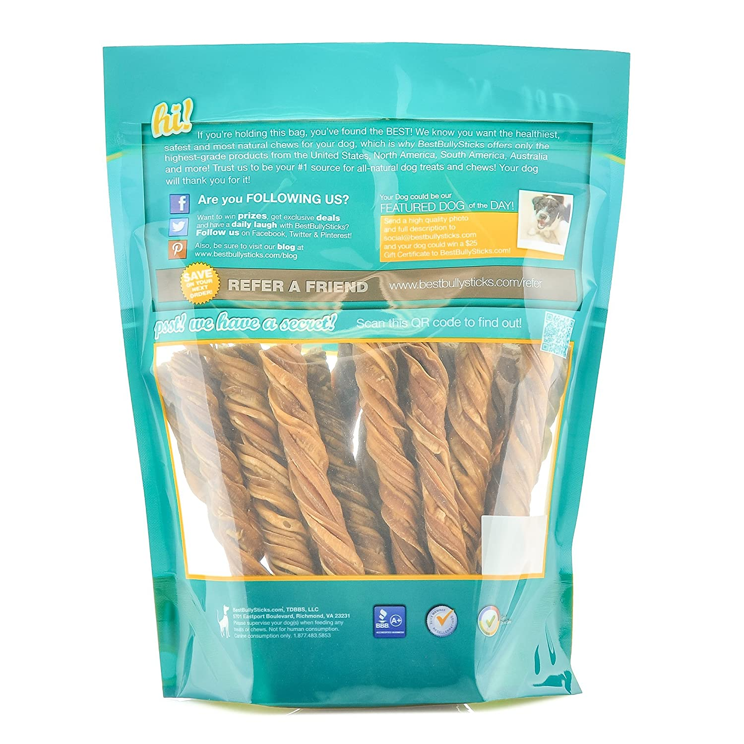 Amazon 100% Natural 5 inch Inch Tripe Twists by Best Bully