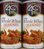 4C 100% Whole Wheat Seasoned BREAD CRUMBS 13oz (2 Cans)
