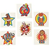 Fun Express Under the Big Top Kid's Temporary Tattoos (6 dz)
