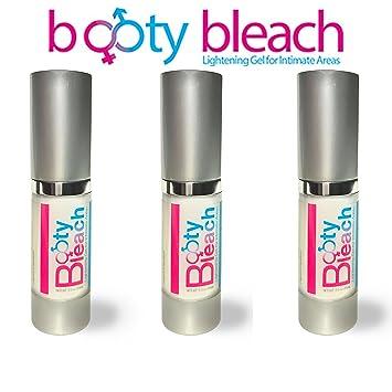 Booty Bleach 3 PACK - Lightening gel for intimate areas such as anus,  vaginal skin, nipples, vagina, penis,