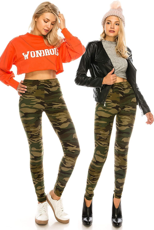 Premium Soft Stretch Peach Skin Pants 1 ALWAYS Womens Print Pattern Leggings