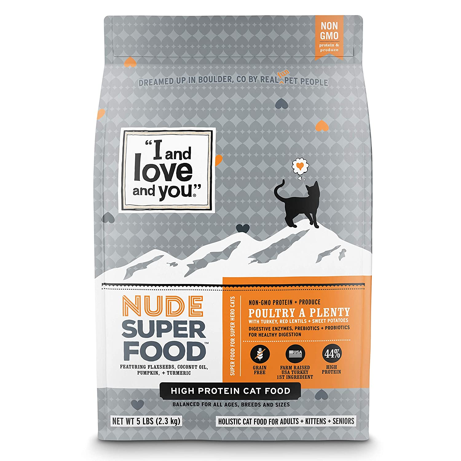 """I and love and you"" Nude Food Poultry A Plenty Grain Free Dry Cat Food"