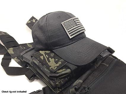 8c7ec3b3494 Amazon.com   Emproda Black Tactical Cap Bundle with USA Flag Patches ...