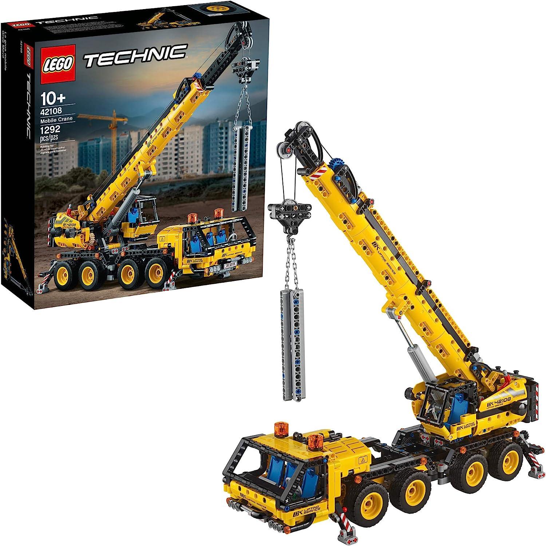 LEGO Technic Mobile Crane 42108 Building Kit (1,292 Pcs) $79.99 Coupon