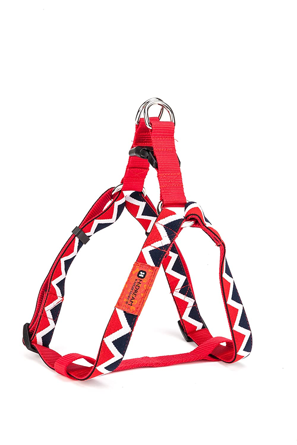 Red S Red S Rainbow Dog Harness (S, Red) Size 13.5 -21.7  Adjustable with 0.6  Width Dog Vest Harness for Small Dogs Like Poodle Teddy Papillon,No Pull Dog Safety Vest Harness Easy for Training and Walking