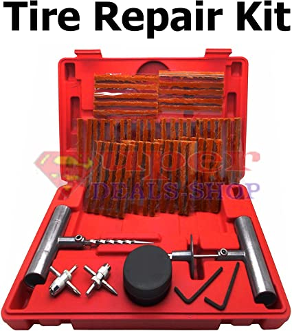 35 Pieces Tire Plug Kit  Quality Tools Flat Punctured Tires Heavy Duty Metal New