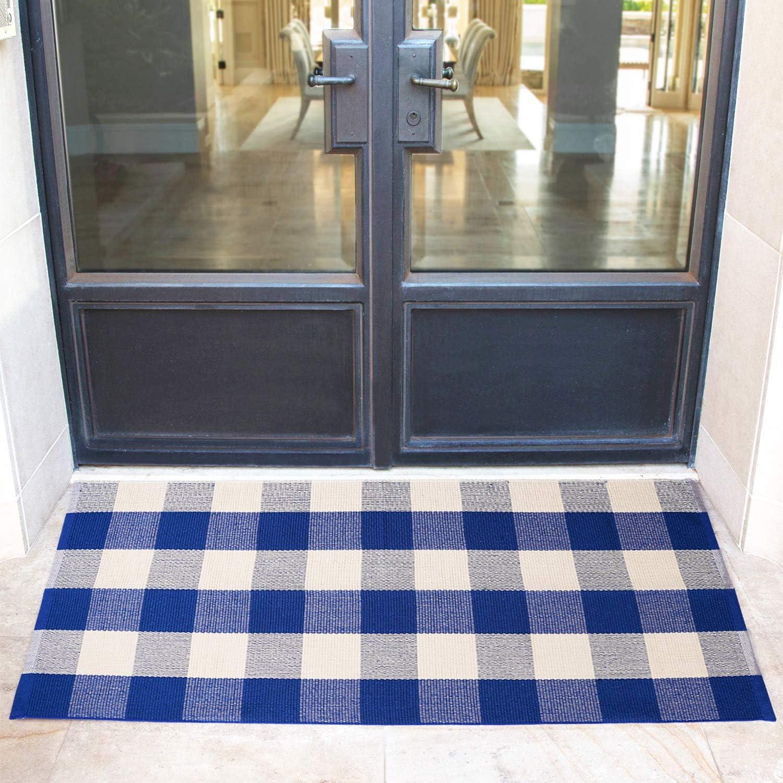 floor decor flooring checkered.htm amazon com winwinplus buffalo plaid rug outdoor front porch  buffalo plaid rug outdoor front porch
