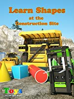 Learn Shapes at the Construction Site with Blazin' Bill the Monster Truck and Max the Glow Train - TOYS