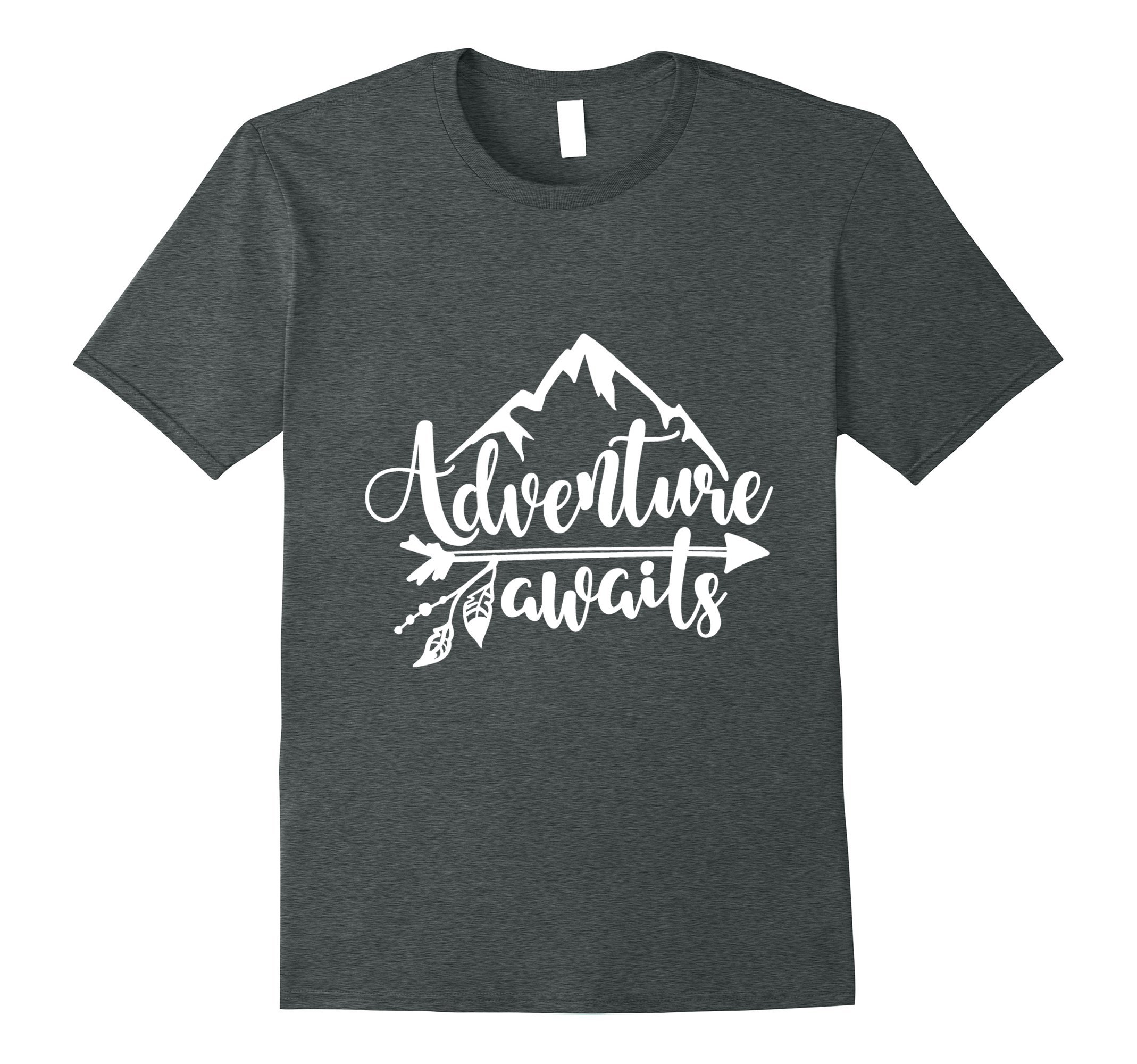 Mens Adventure Awaits - Camping, RV, and Outdoor Travel T-shirt 2XL Dark Heather