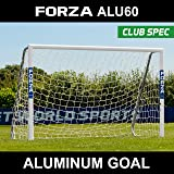 FORZA Alu60 Soccer Goal - Club Spec Aluminum Soccer Goal (Choose Your size 6ft x 4ft --> 24ft x 8ft) Long-Lasting And Weather-Resistant Alu60 Soccer Goals [Net World Sports]