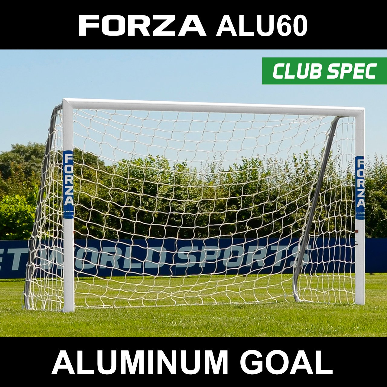 FORZA Alu60 サッカーゴール クラブ スペック アルミニウム製サッカーゴール (サイズは6フィート×4フィート~24フィート×8フィートから選択) 長持ち 耐候性 Alu60 サッカーゴール [Net World Sports] B018Y21CJ8 16ft x 7ft