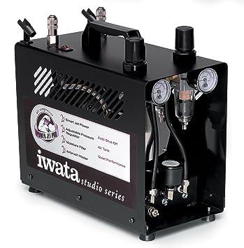 Iwata-Medea Studio Series Power Jet Pro - Compresor de aire de pistón doble: Amazon.es: Juguetes y juegos
