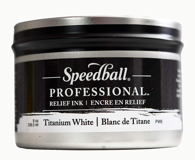 Speedball : Professional Relief Ink : 8oz (236.5ml) : Titanium ...