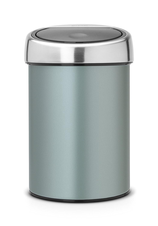 Brabantia Touch Bin con Coperchio Inox Lucido, 3 L, Platinum 364464