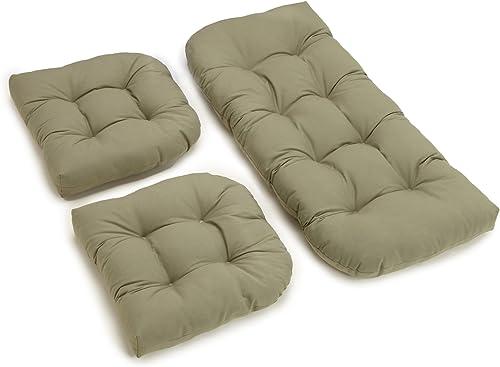 Blazing Needles Twill Settee Group Cushion